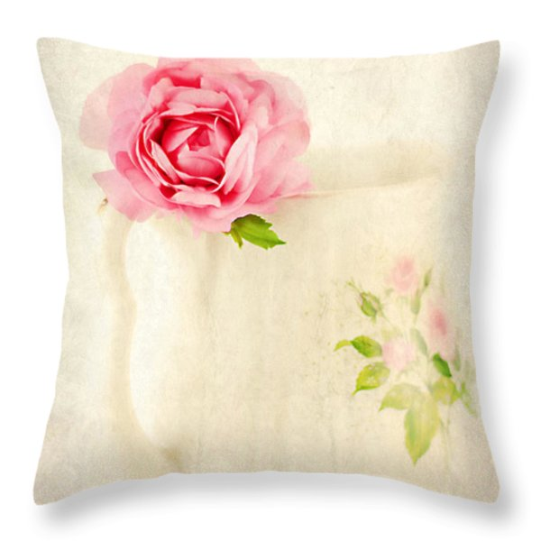Delicate Throw Pillow by Darren Fisher