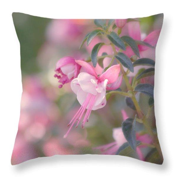 Delicate Throw Pillow by Kim Hojnacki