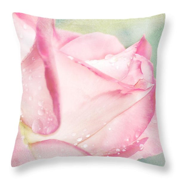 Delicate Rose Throw Pillow by Camille Lopez