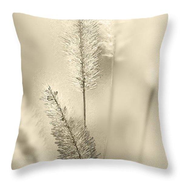 Delicate Sweetgrass Throw Pillow by Heiko Koehrer-Wagner