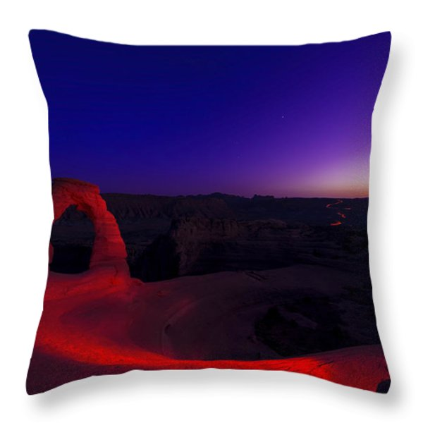 Delicate Twilight Throw Pillow by Dustin  LeFevre