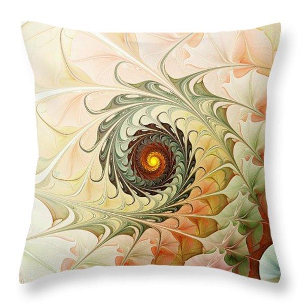 Delicate Wave Throw Pillow by Anastasiya Malakhova