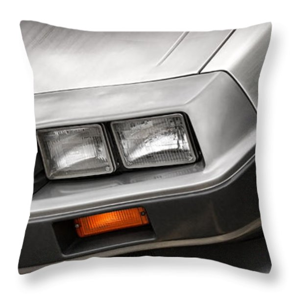 DeLorean DMC-12 Throw Pillow by Gordon Dean II