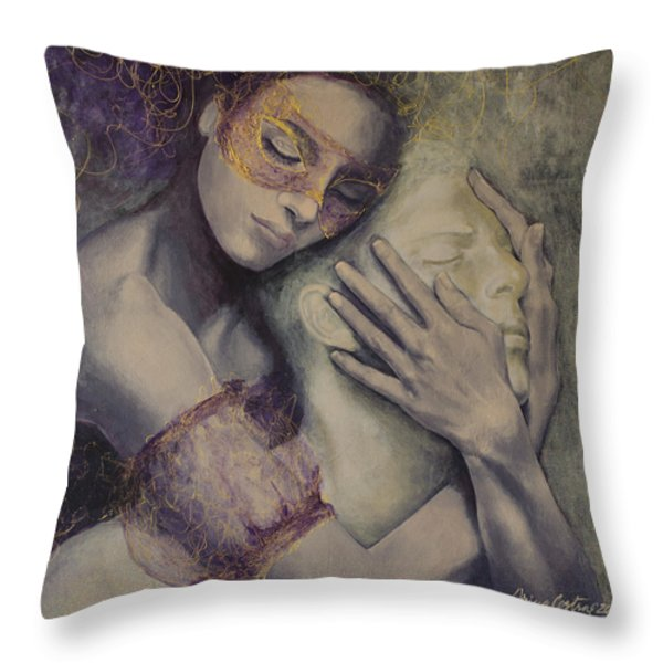 Delusion Throw Pillow by Dorina  Costras