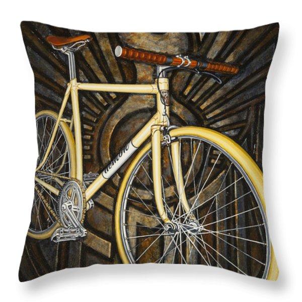 Demon Path Racer Bicycle Throw Pillow by Mark Howard Jones