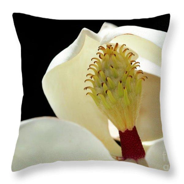 Demure Magnolia Throw Pillow by Sabrina L Ryan
