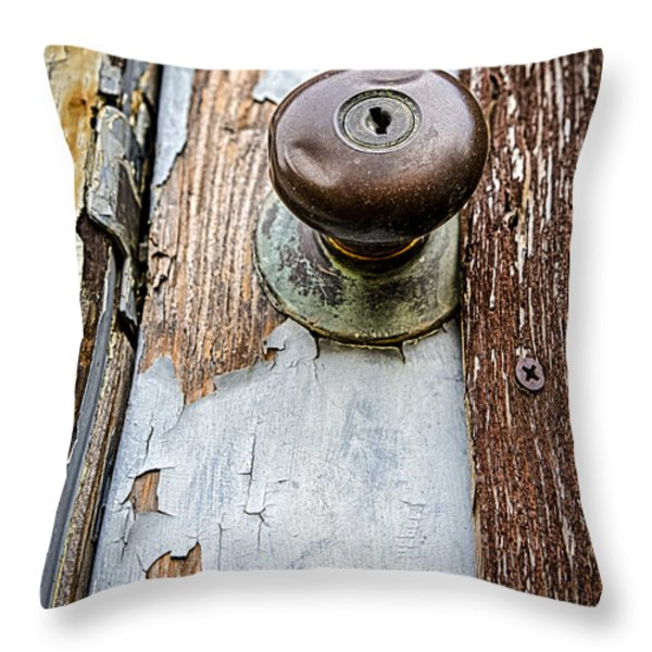 Dented Doorknob Throw Pillow by Caitlyn  Grasso