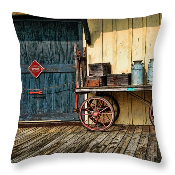 Depot Wagon Throw Pillow by Kenny Francis
