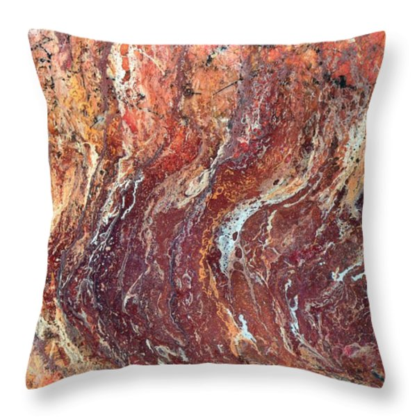 Desert Canyon Throw Pillow by Jane Biven