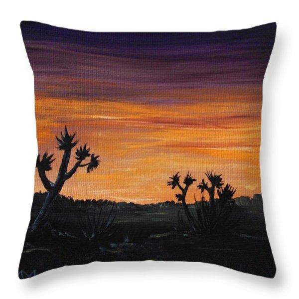 Desert Night Throw Pillow by Anastasiya Malakhova