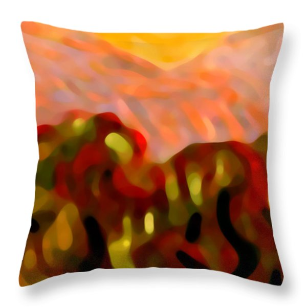 Desert Olive Trees Throw Pillow by Amy Vangsgard