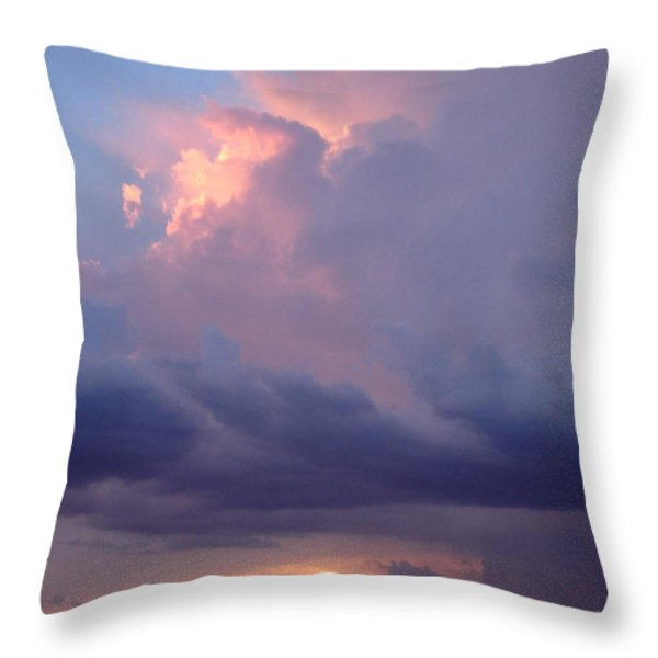 Desert Rainstorm 6 Throw Pillow by Kerri Mortenson
