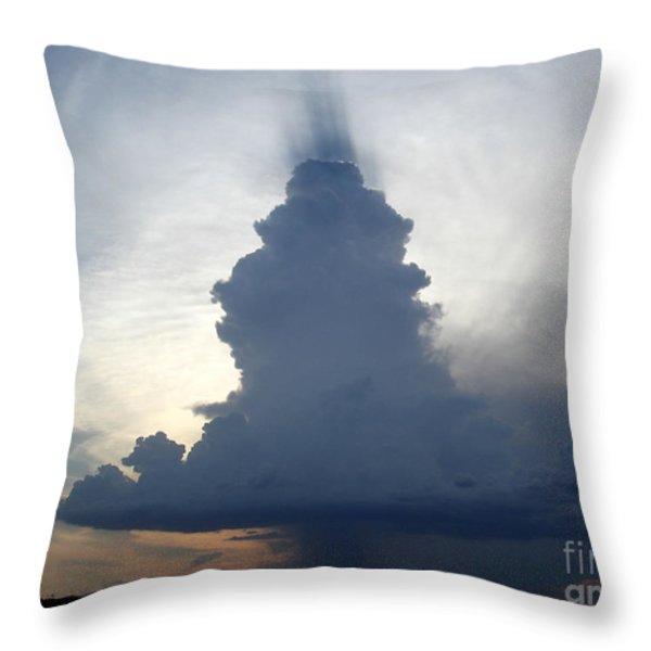 Desert Rainstorm Throw Pillow by Kerri Mortenson