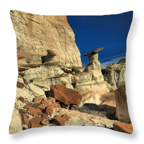 Desert Towers Throw Pillow by Adam Jewell