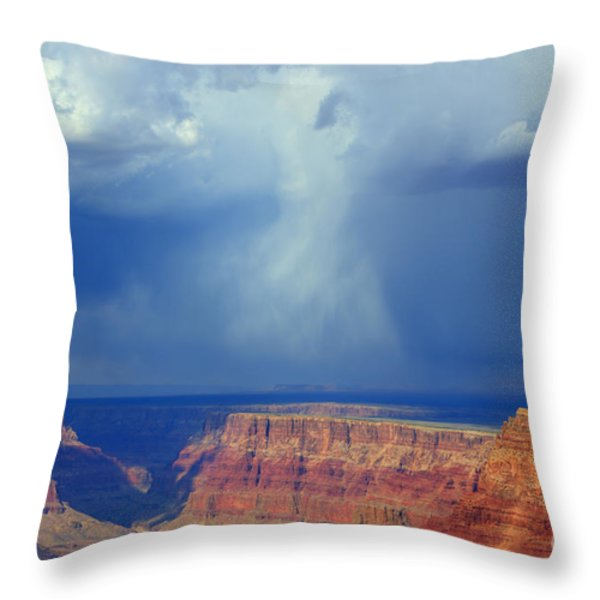 Desert View Grand Canyon Throw Pillow by Bob Christopher