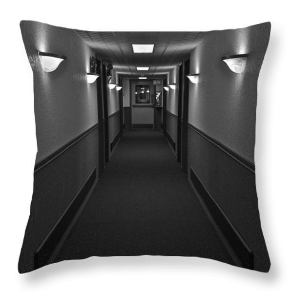 Deserted Throw Pillow by Linda Bianic