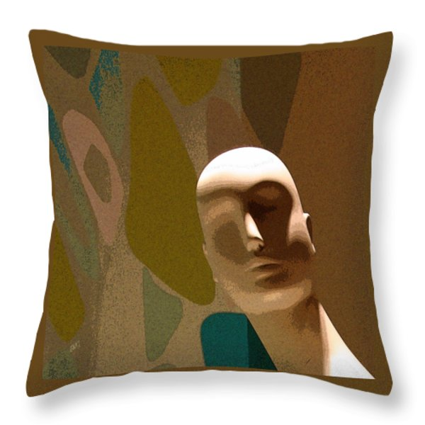 Design With Mannequin Throw Pillow by Ben and Raisa Gertsberg