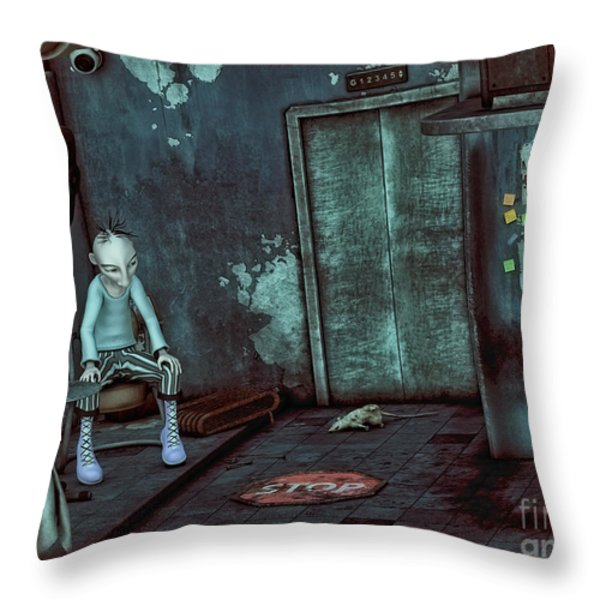 Desolation Throw Pillow by Jutta Maria Pusl