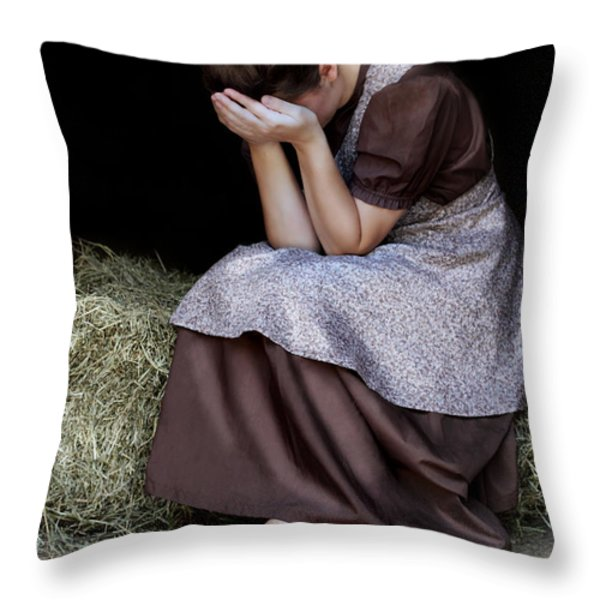 Despair Throw Pillow by Stephanie Frey