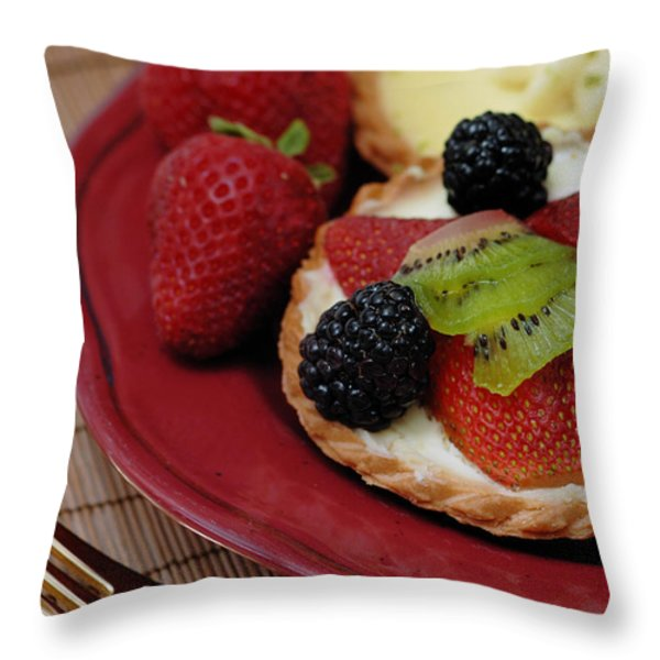 Dessert Tarts Throw Pillow by Amy Cicconi