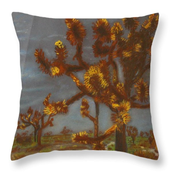 Dessert Trees Throw Pillow by Michael Anthony Edwards