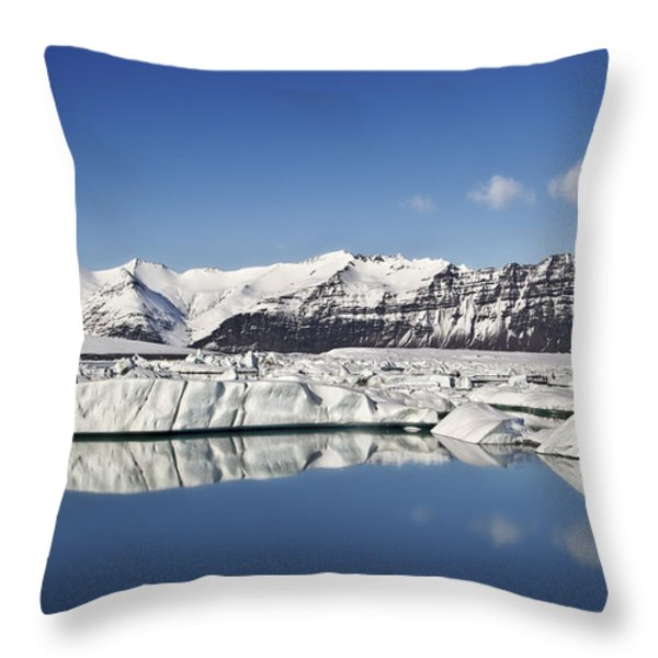 Destination - Iceland Throw Pillow by Evelina Kremsdorf