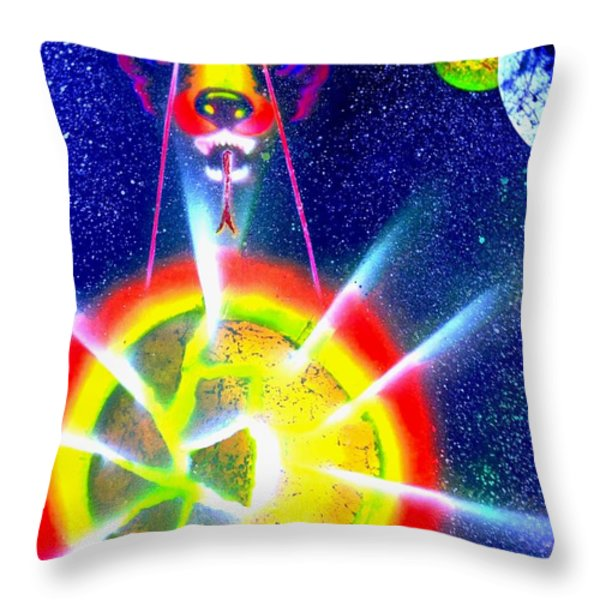 Destroyer Throw Pillow by Drew Goehring