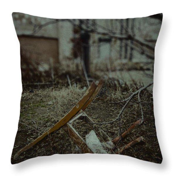 Destruction Throw Pillow by Margie Hurwich