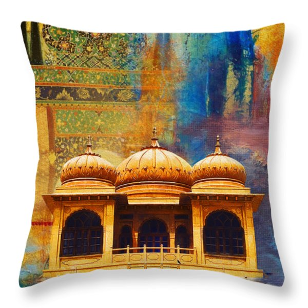 Detail of Mohatta Palace Throw Pillow by Catf