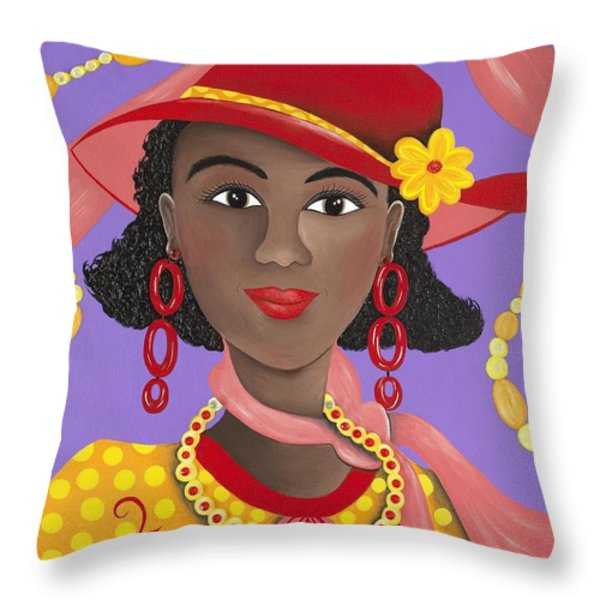 Determined Throw Pillow by Patricia Sabree
