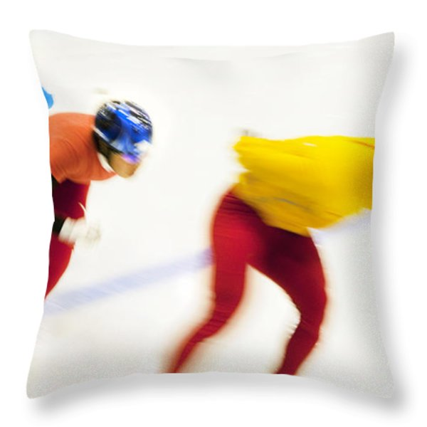 Determined Throw Pillow by Theresa Tahara