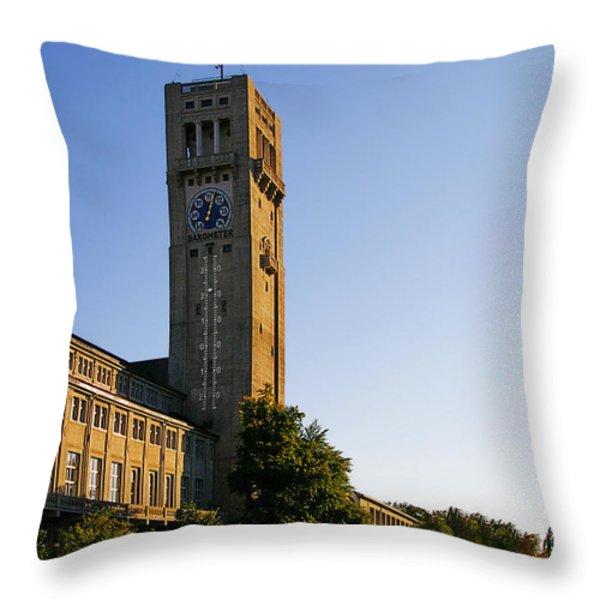 Deutsches Museum Munich - Meteorological Tower Throw Pillow by Christine Till