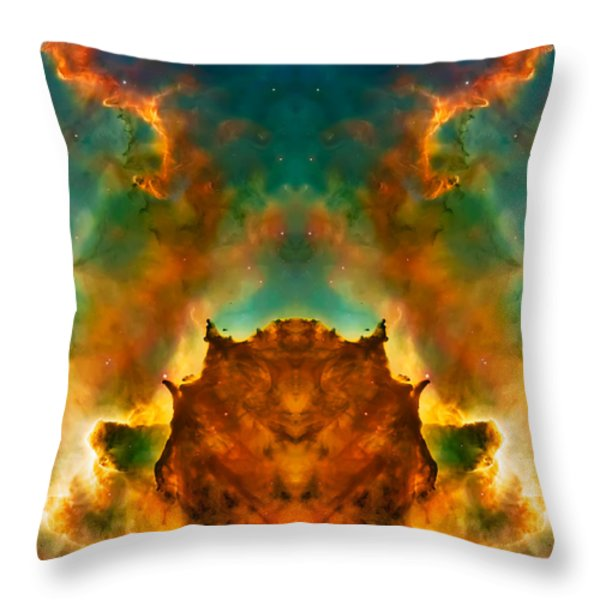 Devil Nebula Throw Pillow by The  Vault - Jennifer Rondinelli Reilly