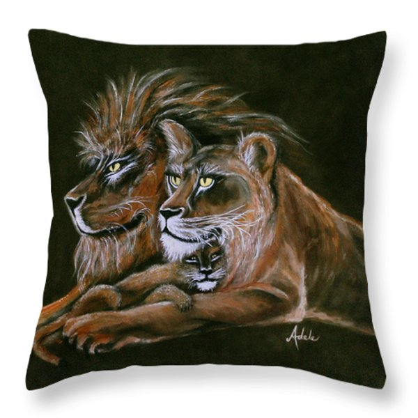 Devotion Throw Pillow by Adele Moscaritolo