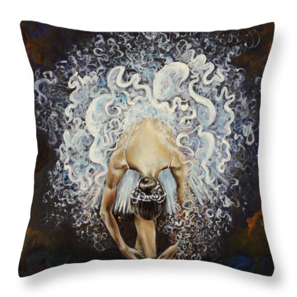 Devotion Throw Pillow by Karina Llergo Salto