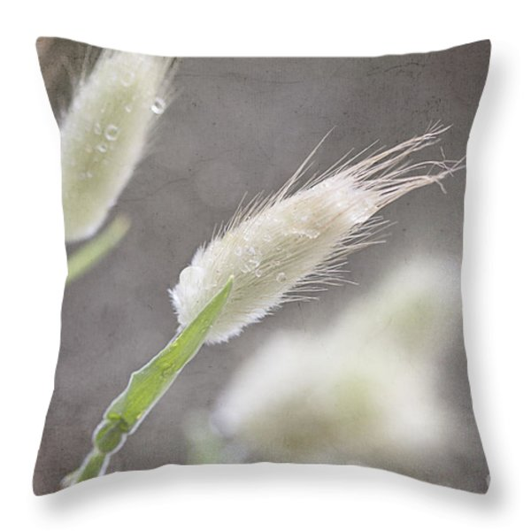Dew Kissed Morning Throw Pillow by Linda Lees