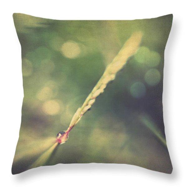 Dew Throw Pillow by Taylan Soyturk