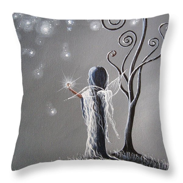 Diamond Fairy by Shawna Erback Throw Pillow by Shawna Erback