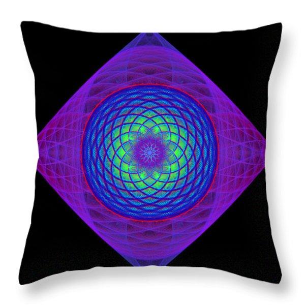 Diamond Swirl Throw Pillow by Sandy Keeton