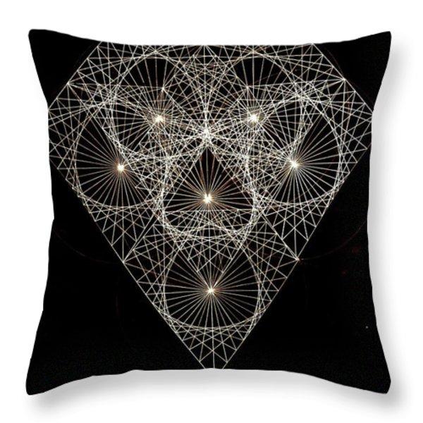 Diamond White And Black Throw Pillow by Jason Padgett
