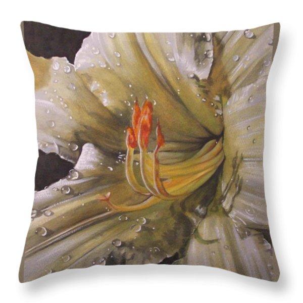 Diamonds Throw Pillow by Barbara Keith