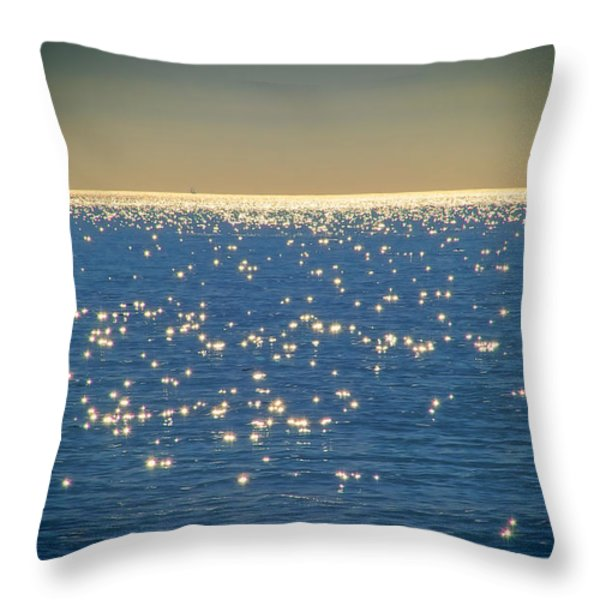 Diamonds On The Ocean Throw Pillow by Mariola Bitner