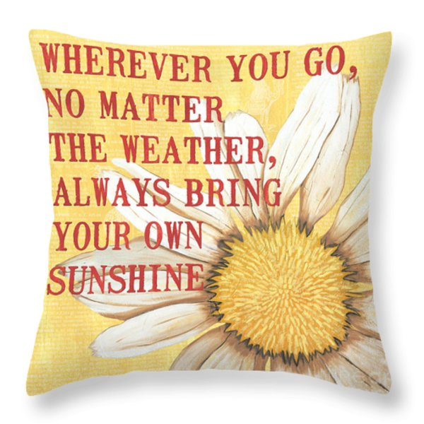 Dictionary Floral 3 Throw Pillow by Debbie DeWitt
