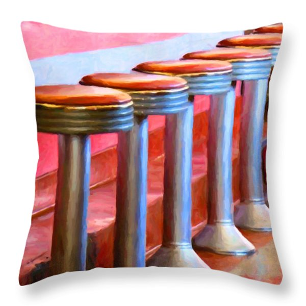Diner - v1 Throw Pillow by Wingsdomain Art and Photography