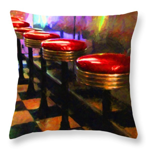 Diner - v2 Throw Pillow by Wingsdomain Art and Photography
