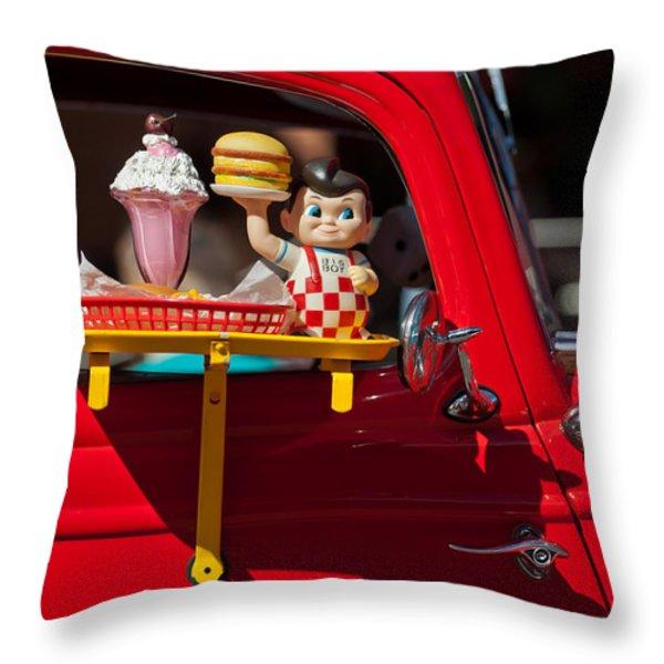 Dinner Is Served Throw Pillow by Jill Reger
