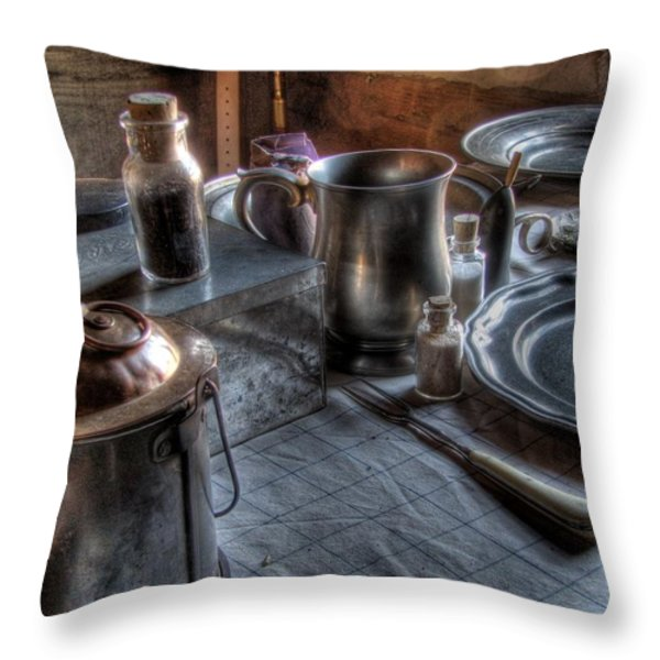 Dinner Table Throw Pillow by Jane Linders