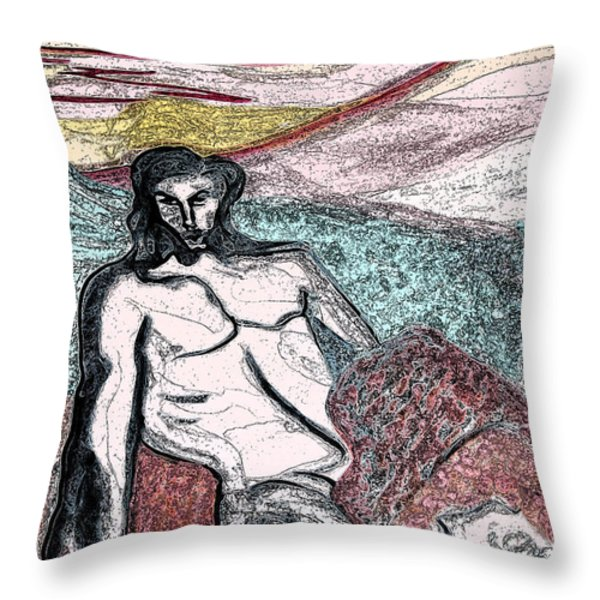 Dionysus By Jrr Throw Pillow by First Star Art