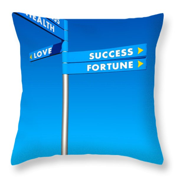 Directions To Goals Throw Pillow by Carlos Caetano