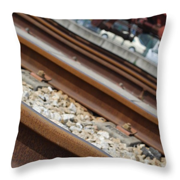 Dismantled Train Station Throw Pillow by Luis Alvarenga